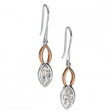 Fiorelli - CZ & Rosegold Drop Earrings