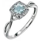 Gecko - Aquamarine & Diamond Ring